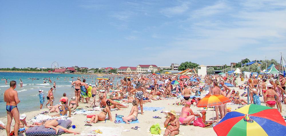 Пляж, Межводное, при Украине